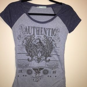 Maurices Blue Heather Graphic Tee XS